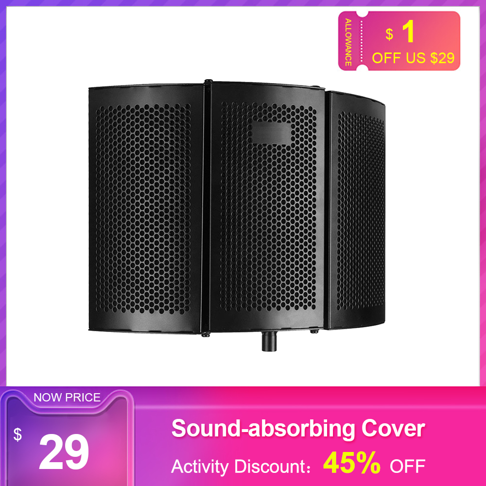 Recording Microphone Wind Screen Board Sound-absorbing Cover Microphone Sound Insulation Screen Sound-proof Plate professional