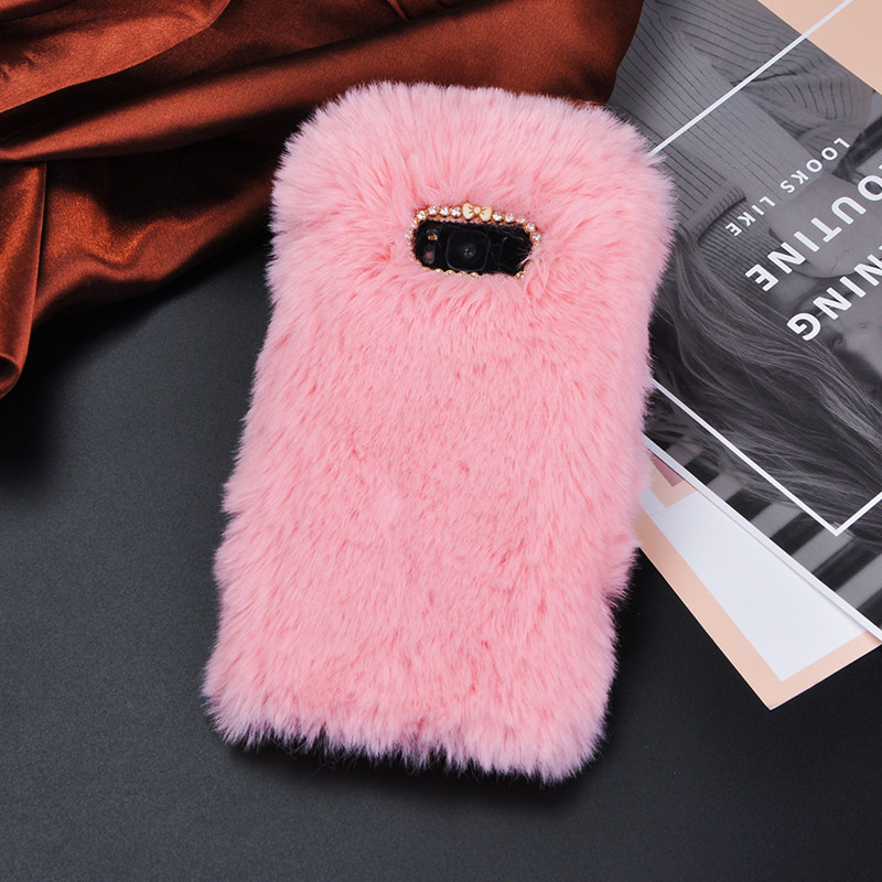 Luxury Fluffy Plush Fur Mobile Phone <font><b>Case</b></font> for <font><b>samsung</b></font> <font><b>galaxy</b></font> <font><b>S11</b></font> note 5 9 8 10 plus J7 DUO NEO J1 J2 2016 c9 c5 pro A20 S8 Cover image