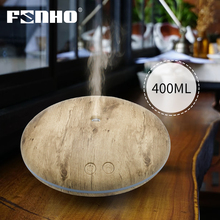 400ml Aroma Essential Oil Diffuser Ultrasonic Air Humidifier with Wood Grain LED Lights Difusor Aromaterapia for Home 80001