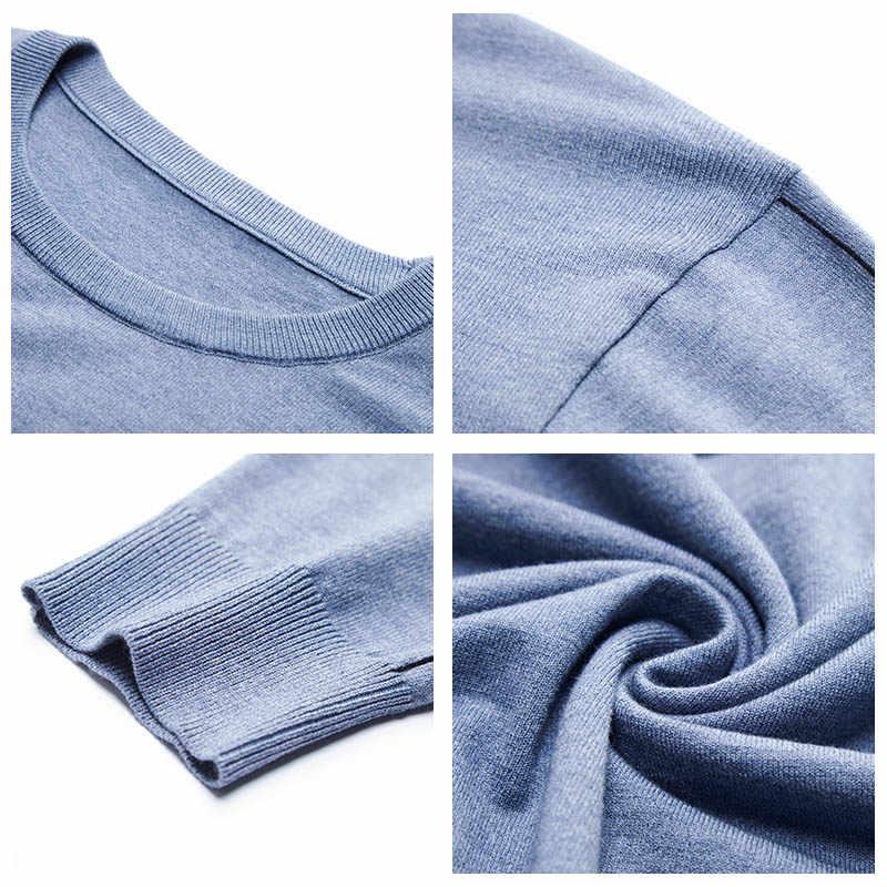 COODRONY 브랜드 봄 가을 새로운 도착 스웨터 남성 코 튼 니트 풀 오버 남자 옷 패션 캐주얼 o-넥 당겨 옴므 C1035