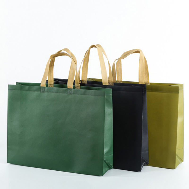 Women Foldable Large Shopping Bag Reusable Eco Bag Unisex Fabric Non-woven Shoulder Bags Tote Grocery Fabric Bags Pouch