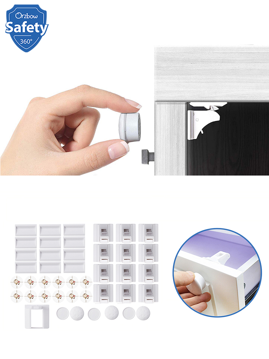 Child Lock Drawer Invisible-Lock Baby-Safety-Cabinet Magnetic 1-Cradle Kids Security