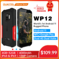 Oukitel прочный IP68/69K WP12 смартфон 4 Гб + 32 ГБ 4000 мА/ч, 4 ядра Android11 мобильный телефон 5,5 ''HD + 500W/1300W 13MP Камера чехол для телефона