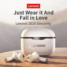 Novo original lenovo lp1 tws fone de ouvido sem fio bluetooth 5.0 dupla estéreo redução ruído baixo controle toque longa espera 300mah