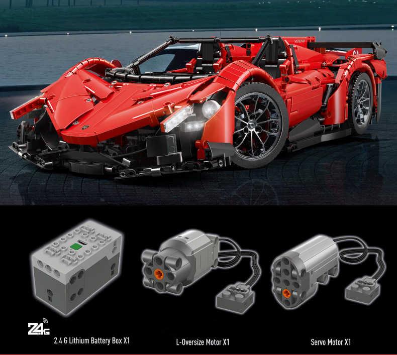 Technic Veneno Roadster 2.4Ghz RC App Auto met Motor Power Functie Bouwsteen MOC-10559 Baksteen Educatief Speelgoed voor Jongen gift