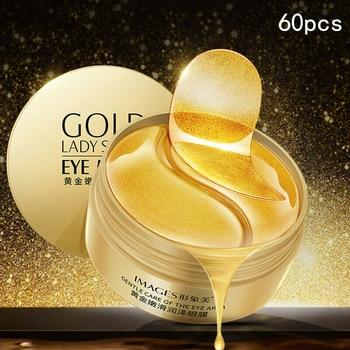 60pcs Gold/ Seaweed Collagen Eye Mask Face Anti Aging Wrinkle Dark Circles Gel Eye Patches Moisturizing Gold Mask Eye Care 1Pair