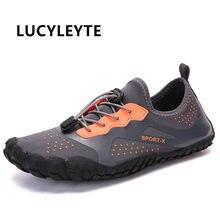 Sapatos de água de verão sandálias de praia para homem upstream água sapatos de desporto masculino de secagem rápida rio mar chinelos de mergulho sapatos de natação