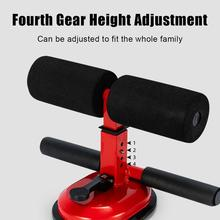 15cm Large Sucker Double Bar Sit-up Aid Four-level Height Adjustment Sit-up Aid Home Exercise Fitness Sports Equipment