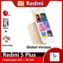Xiaomi Redmi 5 plus 3g 32g smartphone 4000mAh batterie 1920*1080 5.99 HD écran Snapdragon 625 12.0MP caméra arrière