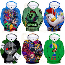 Children Kids Hoodies Shooting Game 3d Print Hoodie Sweatshirt Boys Girls Harajuku Long Sleeve Jacket Coat Men Clothes