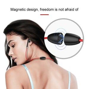 Image 5 - BT313 Bluetooth Oortelefoon Magnetische Hoofdtelefoon Sport Draadloze Opknoping Hals Koptelefoon Met Mi Crophone Voor Xiao Mi Rode Mi Huawei P30
