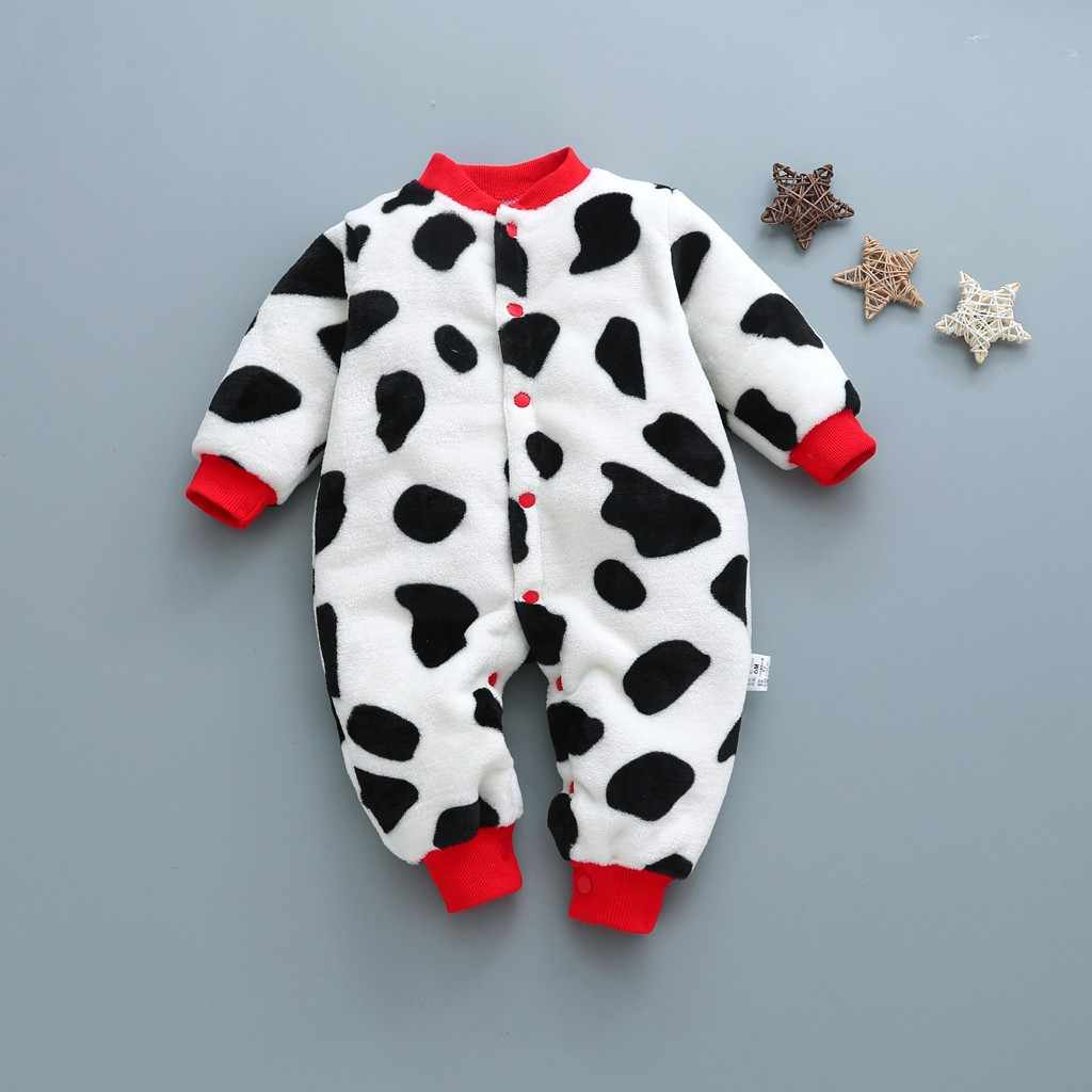 Newborn Infant Baby Girls Boys Cartoon Leopard Print Jumpsuit Romper Clothes New Born Baby Clothes Infant Newborn Romper