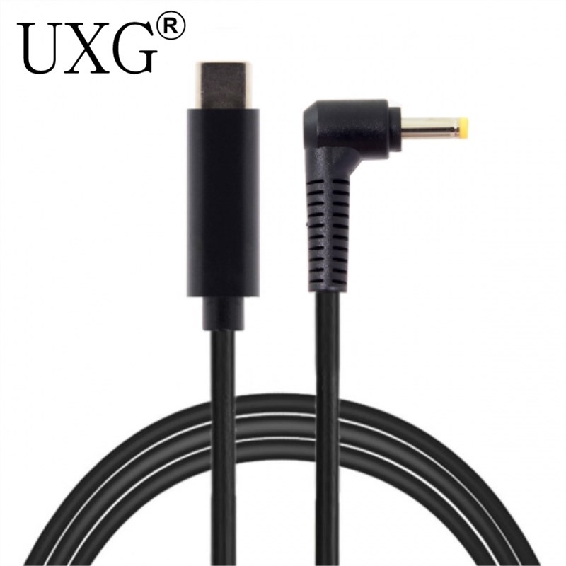 Type C USB-C Input To DC 4.0*1.7mm Power PD Charge Angled Cable For Laptop 18-20V
