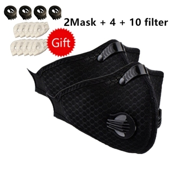 High Quaiity Sport Face Mask With Filter Activated Carbon PM 2.5 Anti-Pollution Running Training Cycling Mask 10 Filters
