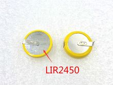 New! 5pcs Genuine LIR2450 2450  Li Ion 3.6V Coin Cell BACKUP BATTERY Rechargeable Battery other CR2450