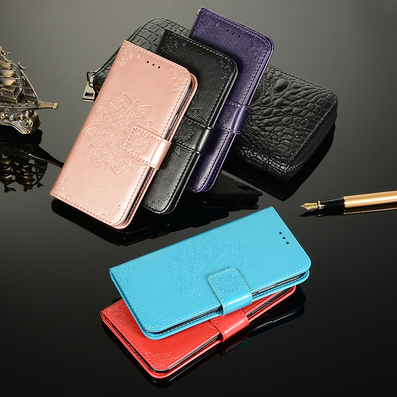 Leather Flip Phone Case For iPhone 7 8 6 6s Plus For iPhone XS XR 11 Pro Max Retro Card Slot Phone Case Full Cover With pattern