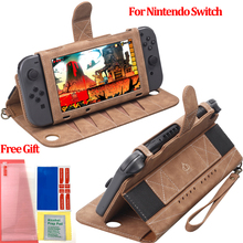 Newest Portable Leather Pouch For Nintendo Game Card Storage Multi functional Cover Case For Nintend Switch