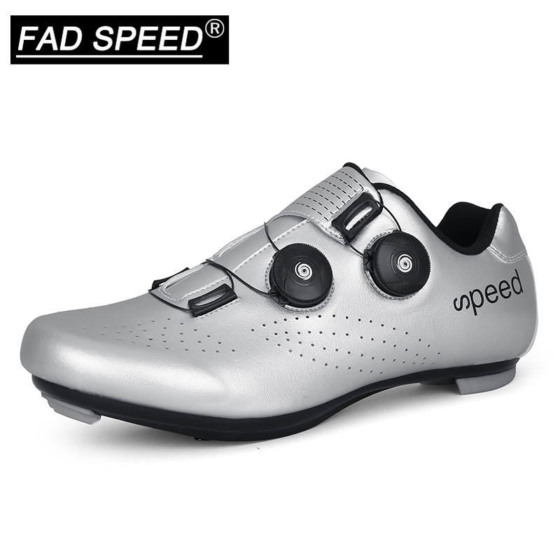 FAD SPEED road cycling shoes men's road bike shoes ultralight bicycle sports shoes self-locking professional breathable Luminous(China)