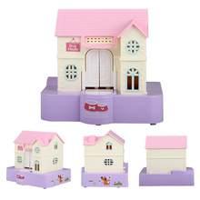 Alcancía eléctrica con forma de Casa de perro para niños, caja de almacenamiento de monedas, regalo de cumpleaños, maxs