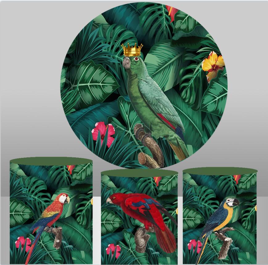 Тропические растения Цветок Птица Попугай украшение на день Рождения фотография фоны для детского душа эластичный фон для фотосъемки