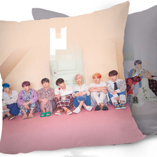 KPOP Подушка Чехол BTS Bangtan для мальчиков детские постельные принадлежности карта души K-pop дома Bangtan Boys квадратной формы с одной стороны Подушка Чехол