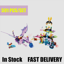 цена на New 10549 Girl Dragon Sanctuary elves fairy Figures friends house building block Bricks kit toys for children fit 41178 gift kid