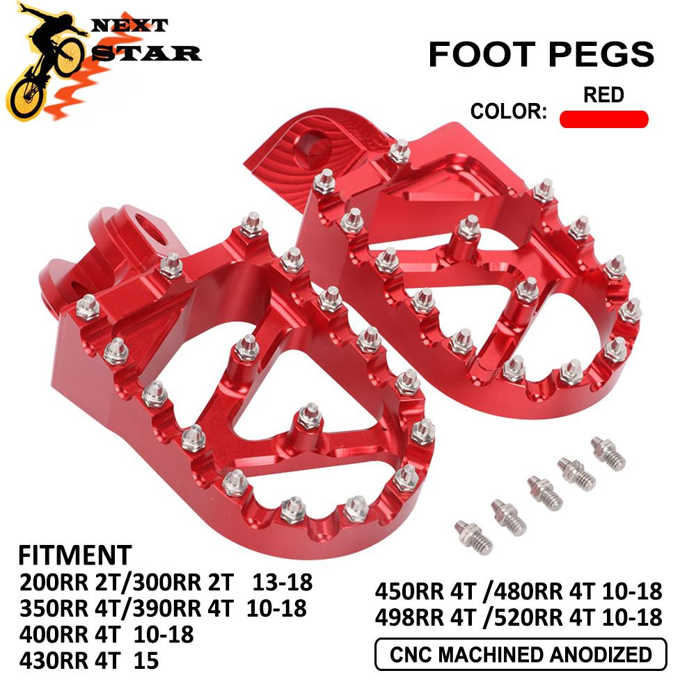 2010-2018 CNC 2T 4T Footrest Footpegs Foot Pedal Foot Pegs For <font><b>Beta</b></font> 200RR <font><b>300RR</b></font> 350RR 390RR 400RR 430RR 450RR 480RR 498RR 520RR image