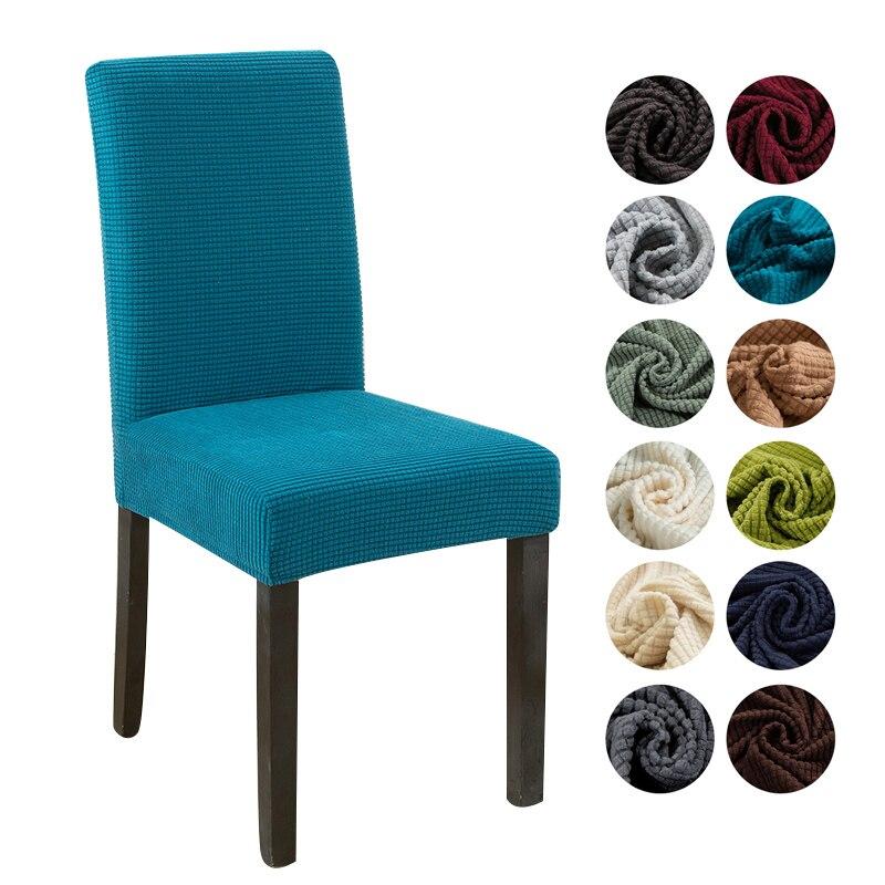 Funda para silla de comedor de licra, funda Lisa elástica para silla, 1/2/4/6/8 Uds.