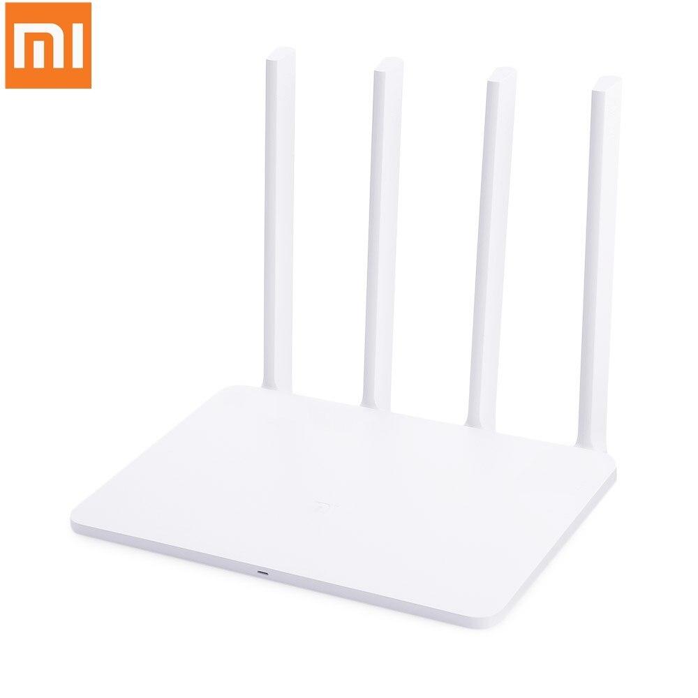 Xiao mi mi routeur WiFi 3G 1167Mbps 2.4GHz 5GHz double bande 128 mo ROM Wi-Fi 802.11ac quatre antennes à Gain élevé puissantes
