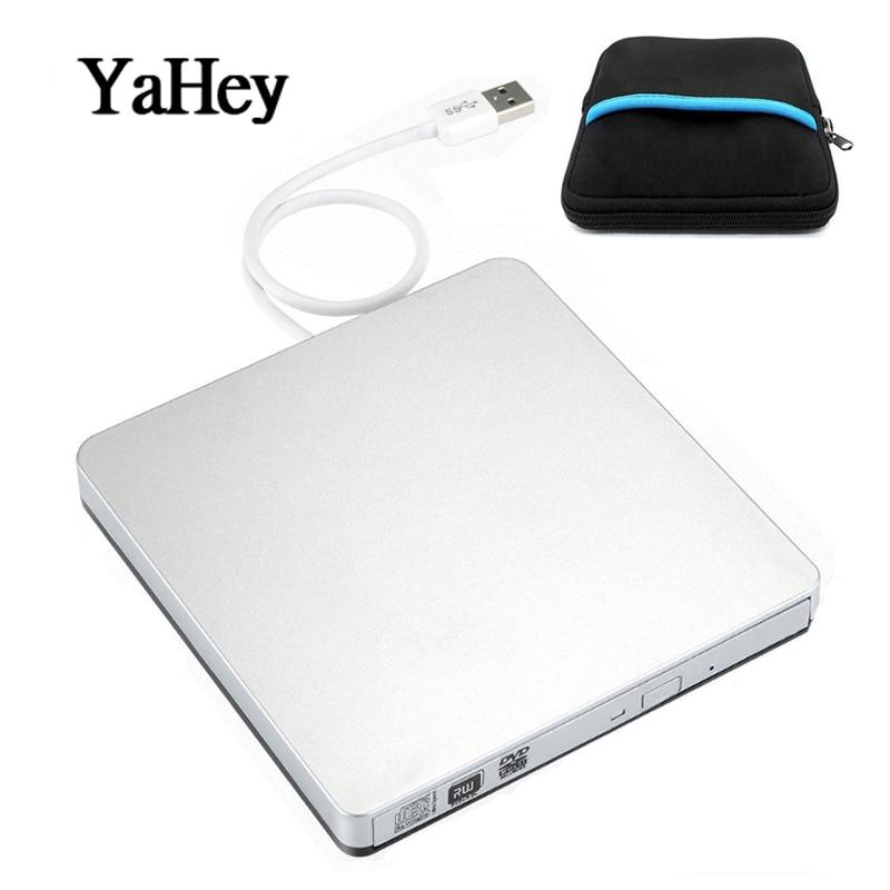 USB 2.0 DVD-RW Brander Externe Dvd-speler CD/DVD ROM Optische Drive Writer Reader Recorder Voor Laptop + Drive Case Bag