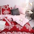 Рождественская Снежинка постельные принадлежности наволочка простыня набор украшение дома для спальни MU8669