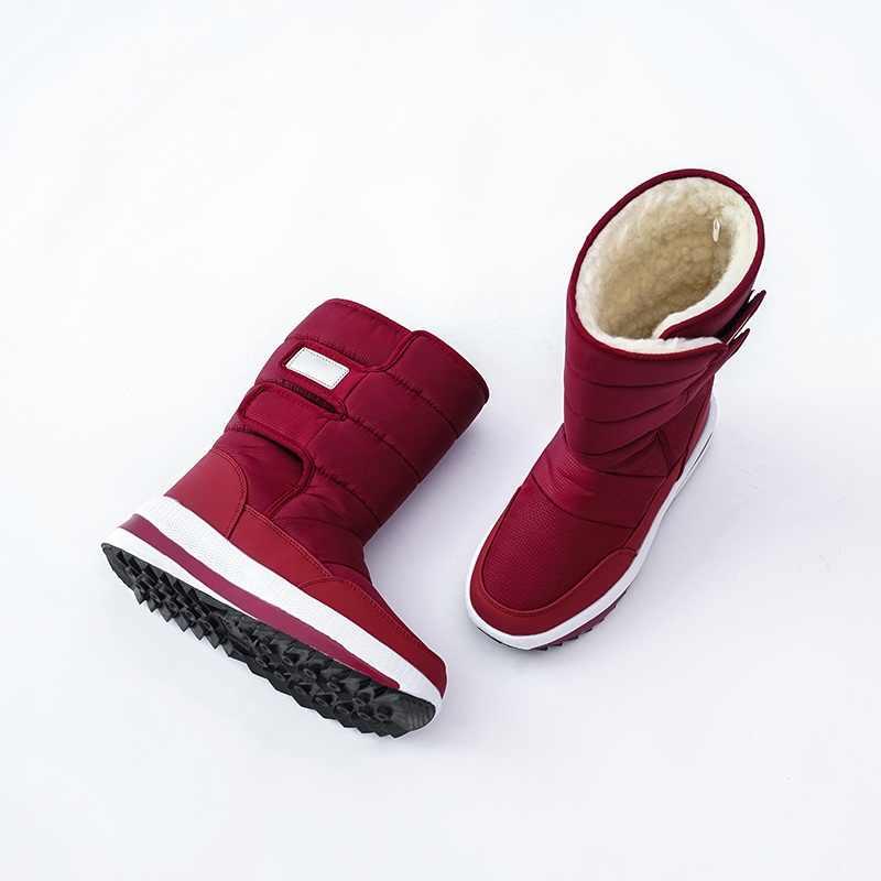 MORAZORA artı boyutu 36-41New kar botları kadın kalın kürk sıcak orta buzağı çizmeler platform ayakkabılar bayanlar pamuk su geçirmez kışlık botlar