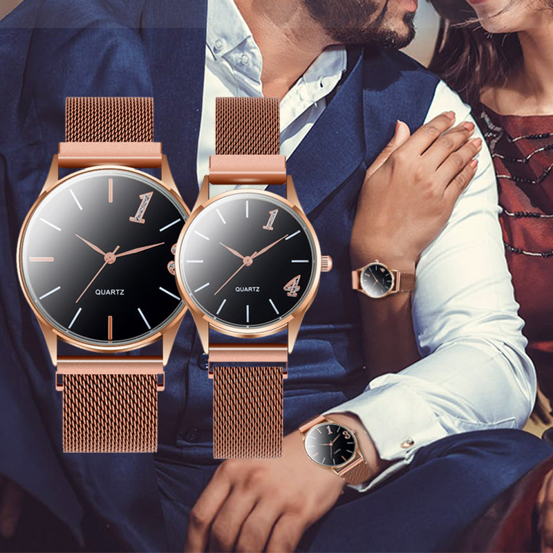 WJ-9395 Couple Watch Fashion Women Watches Magnetic Wrist Watch For Man Lover's Watches  Steel Strap Reloj Mujer Hombre Clock