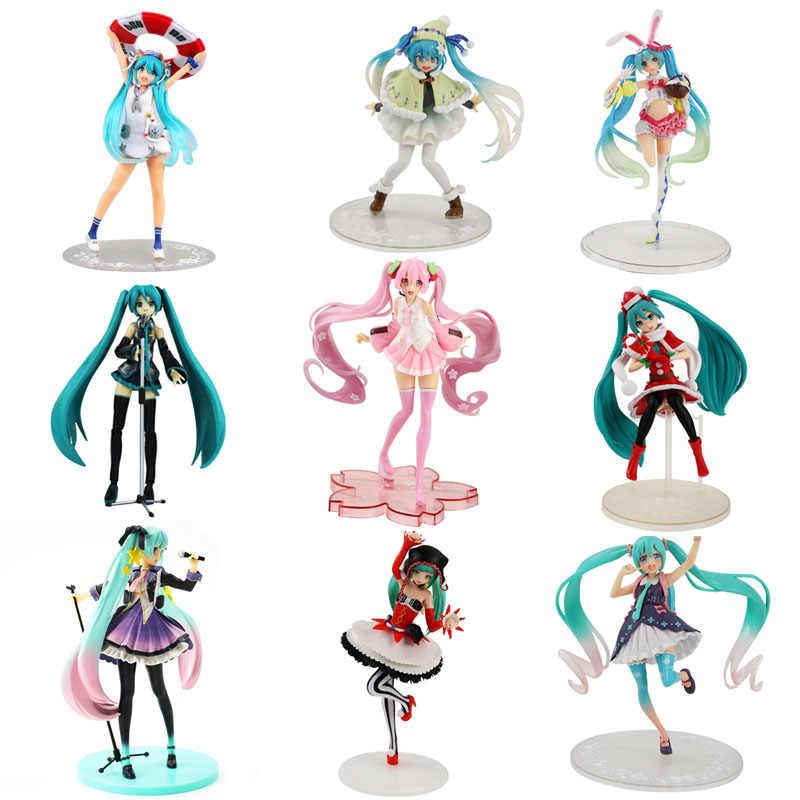 Anime Merah Muda Hatsune Miku Sakura Action Figure Mainan Miku Mainan Anak Perempuan Pvc Gambar Model Mainan