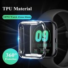 Protector Soft TPU cubierta 41mm para OPPO reloj 46mm claro cubierta de la pantalla para OPPO ver 41mm 46mm Protección de cobertura total