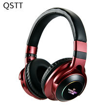 LED 008 Light Wireless Bluetooth Headphones 3D Stereo Earphone With Mic Over-Ear Headset Support TF Card FM Mode AUX Audio Jack