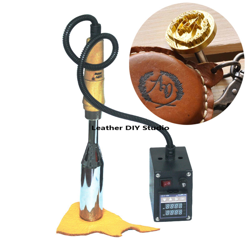 Portable Hot Stamping Machine 300W Cake Wood Leather Paper Brand Embossing Machine with Free Custom Logo Stamp