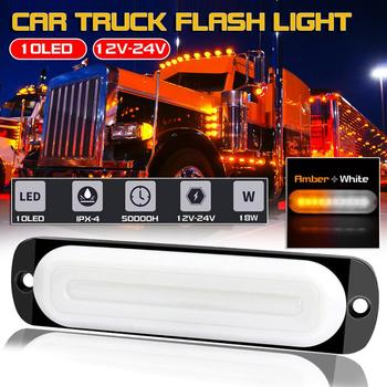 Car Signal Light 12V to 24V Amber 10LED Bar Car Truck Strobe Flash Emergency Light Warning Light Truck signal Warning Light new цена 2017