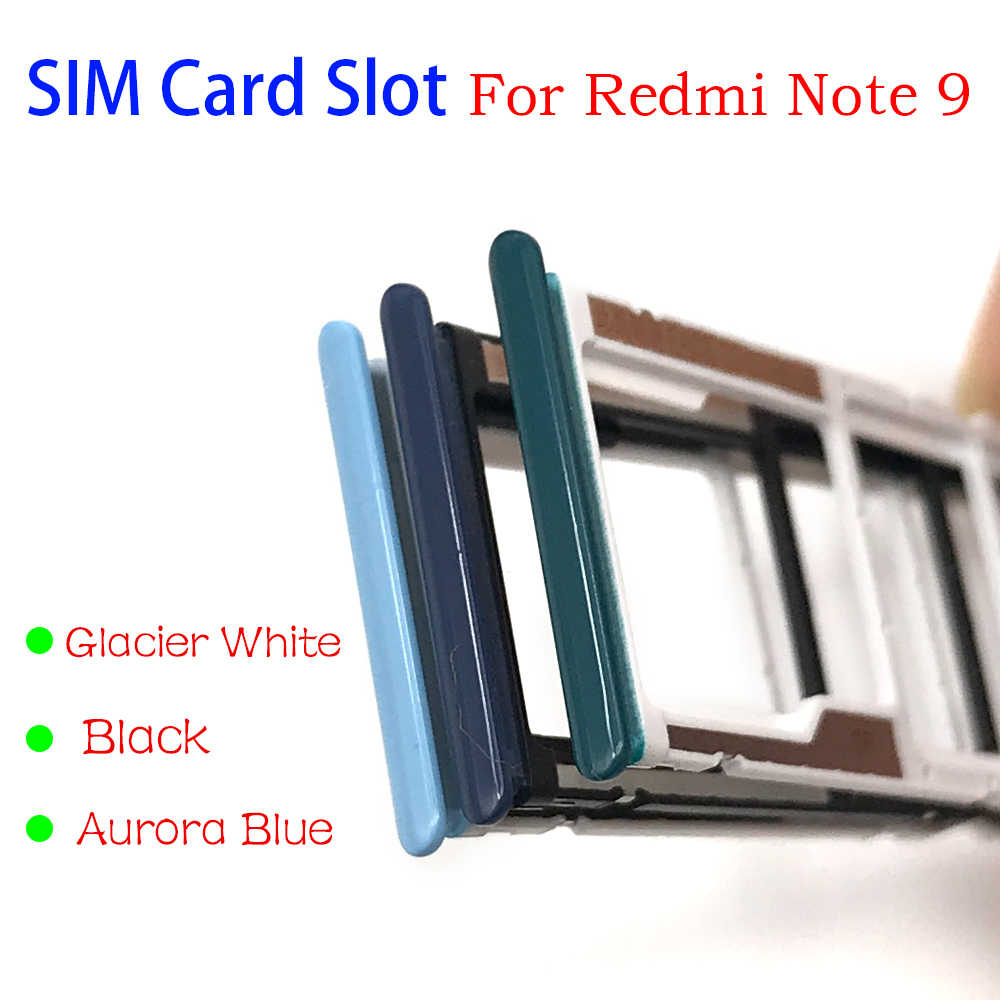 New For Xiaomi Redmi Note 9 Sim Card Slot Sd Card Tray Holder Adapter Mobile Phone Housings Frames Aliexpress