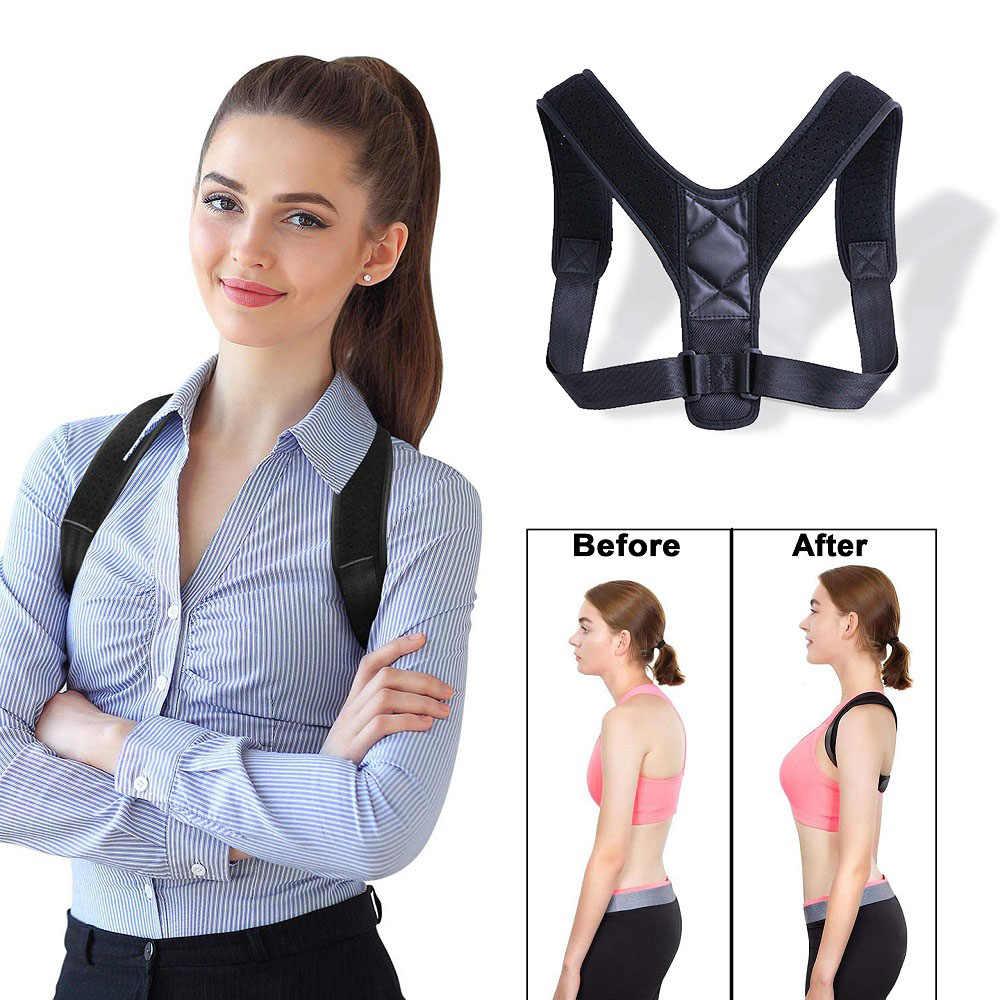 新しい姿勢コレクター背骨バックショルダーサポートコレクターバンド調整可能なブレース補正ザトウクジラ腰痛緩和