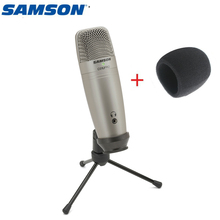 Original samson c01u pro livre vento esponja) usb microfone condensador para gravação de estúdio música youtube vídeos