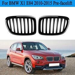 MagicKit Car Front Center Racing Grille dla BMW X1 E84 25iX/28i/28iX/35iX 2009-2015 błyszczący czarny błyszczący kratka nerkowa Car Styling