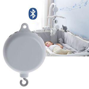 Поворотный Детский мобиль для кроватки, музыкальная шкатулка 35 песен, USB Bluetooth, электрическая детская игрушка для кроватки