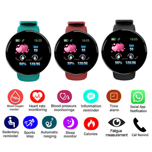 Image 5 - 2019 بلوتوث ساعة ذكية الرجال ضغط الدم جولة Smartwatch النساء ووتش D للماء جهاز تعقب للياقة البدنية ال WhatsApp لالروبوت iOS