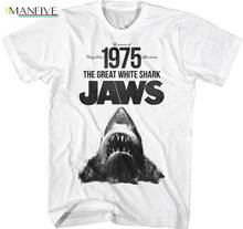 Jaws Summer Of 1975 The Great White Shark Adult T Shirt Classic Movie цена и фото