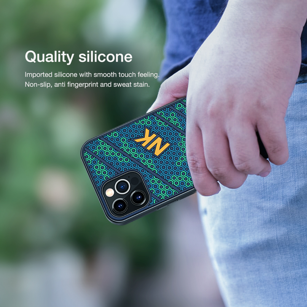 Luxury 3D Honeycomb Texture Anti fingerprint Silicone Case for iPhone 12 Pro