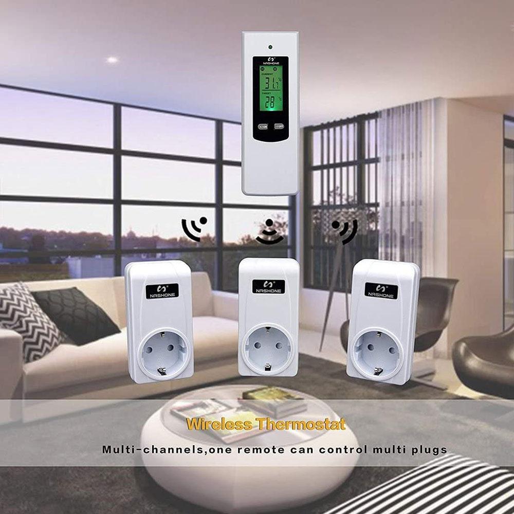 Clearance SaleNashone Control Socket Temperature-Controller Floor-Heating 230V 433mhz EU LCD