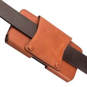 Image 5 - آيفون 11 برو ماكس جلد طبيعي الهاتف الحقيبة حزام كليب الجلود حقيبة غطاء الخصر الحقيبة حالات آيفون XS ماكس XR حالات