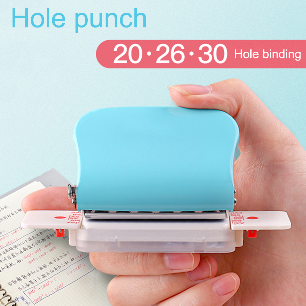 Fromthenon Leaf Paper Punch 30/26/26 Hole Puncher A4/A5/A6 Planner Scrapbooking Tool Binding Supplies School & Office Stationery