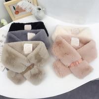Winter Schal Luxus Faux Pelz Warme Schal Mode Weiche Plüsch Verdicken Snood Schals Schal für Erwachsene Kinder Frauen Mädchen